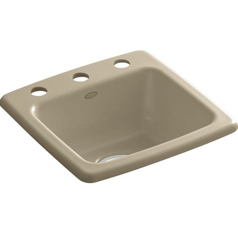 Kohler Cast Iron Sink Enamel Care by Shop Kohler Mexican Sand Single Basin Cast Iron Bar Sink