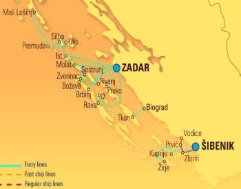map  zadar croatia wise