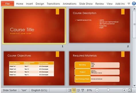 academic  overview powerpoint template