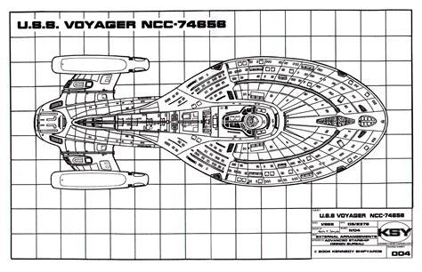 Starship Voyager Deck Plans by Trek Blueprints Intrepid Class Starship U S S
