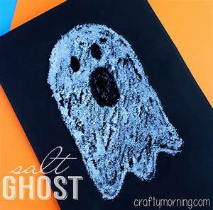 Easy Salt Ghost Craft for Halloween - Crafty Morning