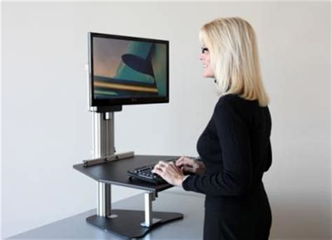 kangaroo standing desk getting the benefits of an adjustable height desk on a