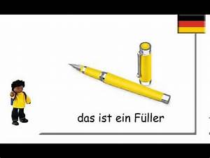 Da Ist Die Tür : german school things schulsachen auf deutsch youtube ~ Watch28wear.com Haus und Dekorationen