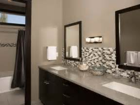 bathroom choosing bathroom backsplash for beautify bathroom bathroom glass tile backsplash - Bathroom Tile Backsplash Ideas