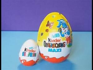 Kinder überraschung Maxi : oeuf kinder surprise easter eggs berraschung maxi 100g youtube ~ Eleganceandgraceweddings.com Haus und Dekorationen