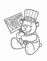 Election Coloring Pages Drawing Printable Sheets Sketch Getcolorings Bear Republican Colorin Getcoloringpages sketch template
