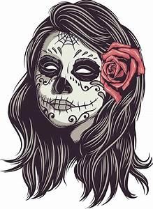 Tete De Mort Mexicaine Femme : sugar skull bride stickers by digsterdesigns redbubble ~ Melissatoandfro.com Idées de Décoration