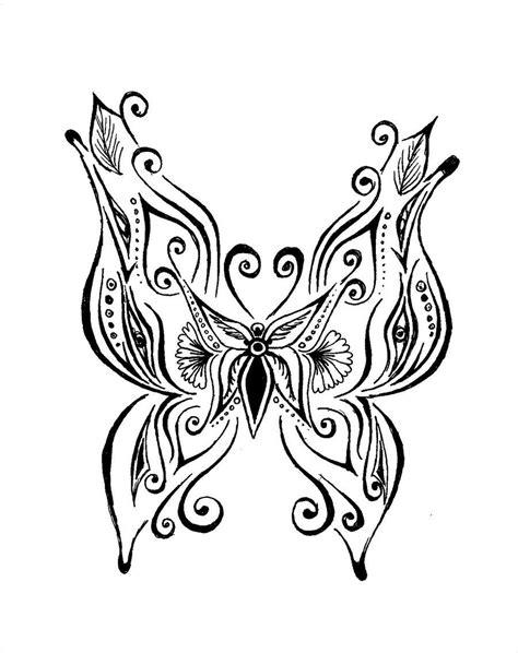 Henna Butterfly by kegome1994.deviantart.com on