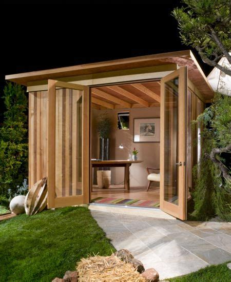 Building A Studio In The Backyard by Modern Cabana Studios Backyards And Offices
