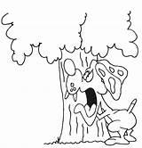 Dog Coloring Barking Drawing Bark Tree Pages Printactivities Getdrawings Sketch Template sketch template