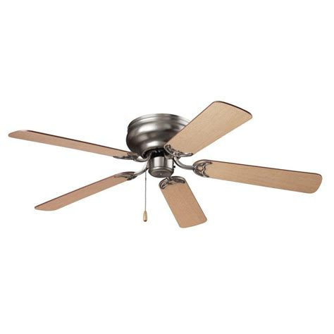 d ceiling fans nutone hugger series 52 in indoor brushed steel ceiling