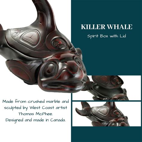 killer whale spirit box  removable lid