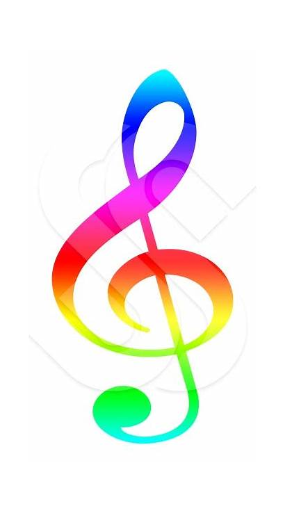 Symbols Colorful Symbol Notes Musical Clipart Clef