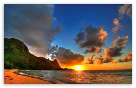 seaside sunrise ultra hd desktop background wallpaper