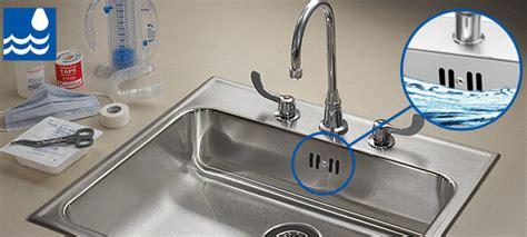 overflow kitchen sink sink overflow protection system integra flow just mfg 1332