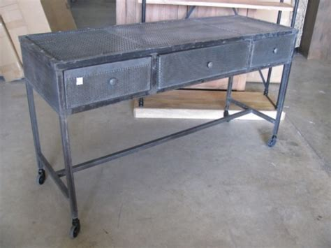 metal console table with drawers iron console table with three drawers nadeau houston