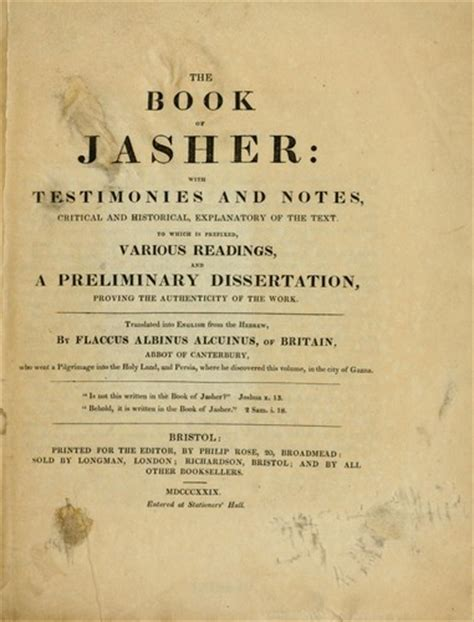 book  jasher  edition open library