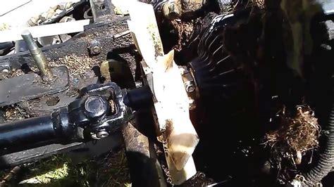 john deer  front transmission seal youtube