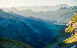 Nature, Landscape, Mountain, Mist, Sunrise, Switzerland