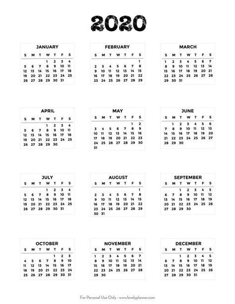 printable  bullet journal mini calendars lovely
