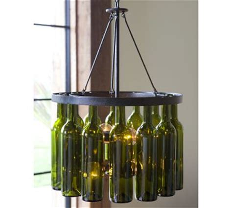187 diy recycled wine bottle chandelier