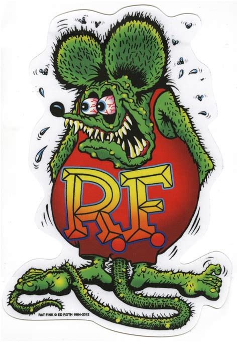 rat fink sticker