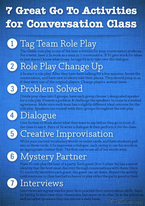 great   activities  conversation class poster