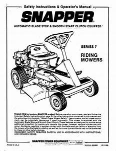 Old Snapper Mower Parts Manual