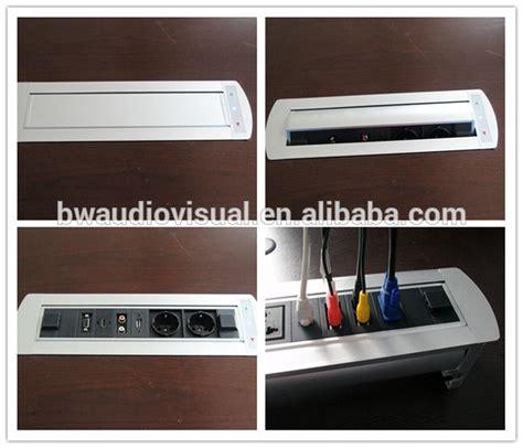 bw it help desk bw t66 multimedia rotating desk switch socket flip up
