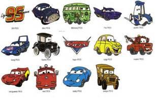 Disney Pixar Cars Movie Character Names