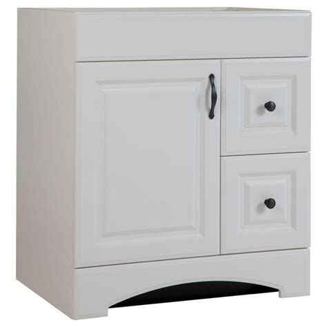 glacier bay drifton bath vanity glacier bay regency 30 in vanity cabinet only in white