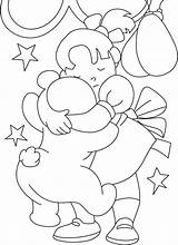 Coloring Pages Friend Friendship Card Friends Bright Days Colouring Sheets Children Kentscraft Mothers Playing Activities sketch template