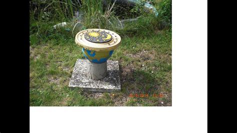 diy deko garten beton giessen diy sonnenuhr globus deko f 252 r den garten a sundial
