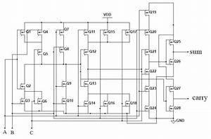 28t Cmos Full Adder Circuit Diagrams