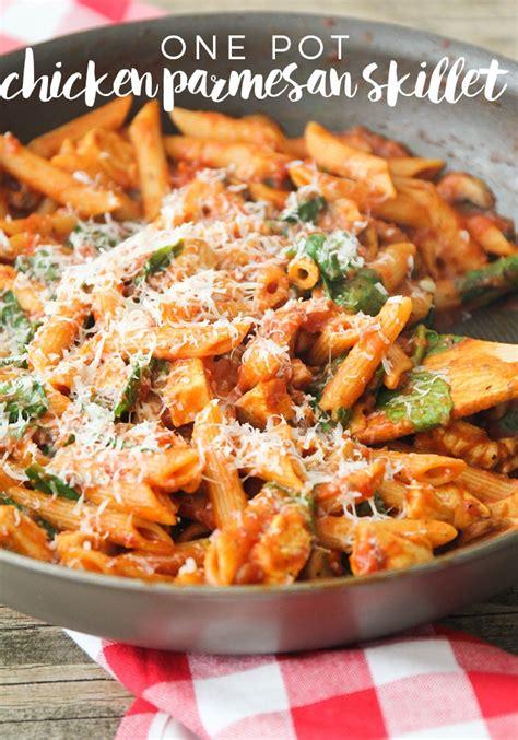 one pot chicken parmesan skillet somewhat simple