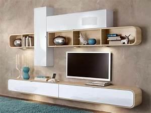 Meuble Tv Accroché Au Mur : meuble tv accroche au mur meuble tv mural suspendu meuble tv hifi pas cher maisonjoffrois ~ Preciouscoupons.com Idées de Décoration