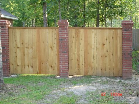 brick and wood fence pictures brick columns with wood fence ideas for the house pinterest
