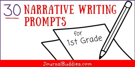 narrative writing prompts  st grade