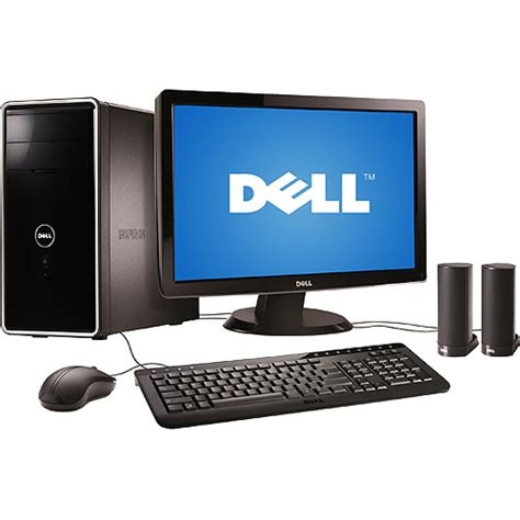 walmart desk top computers dell desktop pc with 23 quot monitor inspiron amd athlon x4