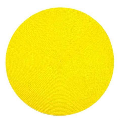 accessoires deco cuisine set de table rond 38cm jaune