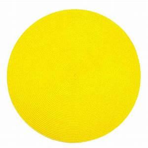 Set De Table Jaune : set de table rond jaune ~ Teatrodelosmanantiales.com Idées de Décoration