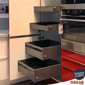 Armoire Rangement Cuisine : colonne de cuisine n 2127 armoire de rangement stecia rouge 4 tiroirs l 39 anglaise l60 x h195 ~ Teatrodelosmanantiales.com Idées de Décoration