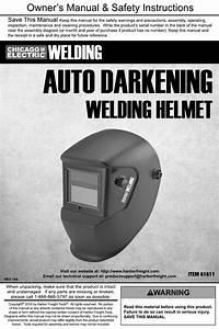 Harbor Freight Adjustable Shade Auto Darkening Welding
