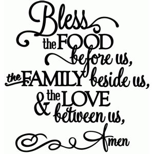 silhouette design store view design 47133 bless the food love between us vinyl phrase