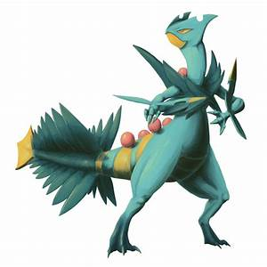 [Type Collab-Dragon] Mega Sceptile Shiny [Pokemon] by ...