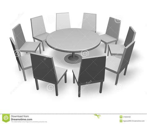 table ronde et chaises illustration de concept de réunion avec les chaises et la