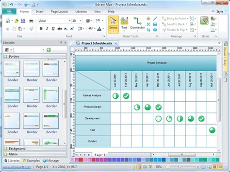 project management software focus project drawing and project diagram