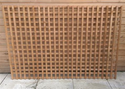 Small Trellis Fence by Weavo Small Square Trellis Weavo Fencing Products Ltd