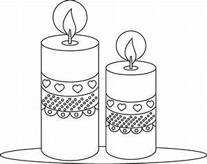 Bougie De Noel Dessin : coloriage bougies d cor es de coeurs coloriages ~ Voncanada.com Idées de Décoration