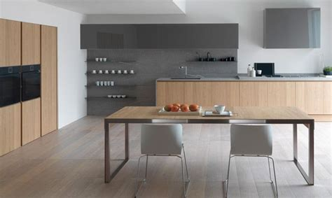 cuisine chene blanchi cuisine modulnova moon gola chêne naturel kitchen ideas